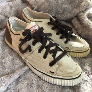 True Religion Men's Canvas Lace Up Shoes Size 11